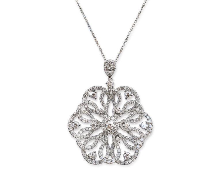 Diamond necklace for Orange Coast magazine