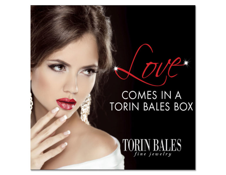 Love comes in a Torin Bales box ad