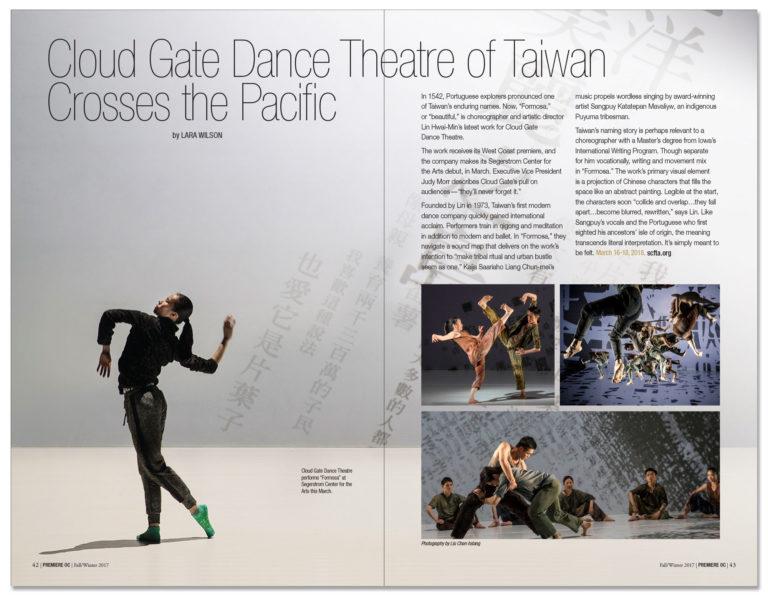 Orange Coast magazine - Premiere OC layout
